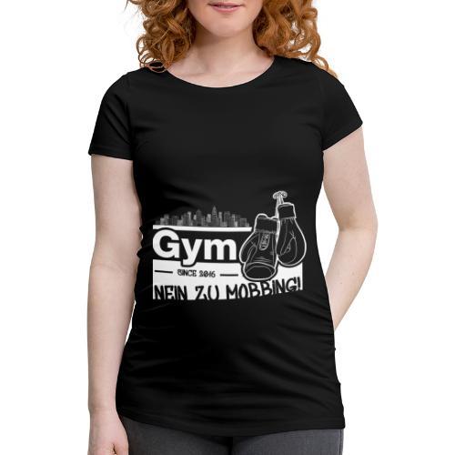 Nein zu Mobbing Men Druckfarbe weiß - Frauen Schwangerschafts-T-Shirt