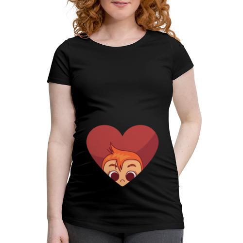 Baby Herz chwangerschaftsshirt Umstandsmode - Frauen Schwangerschafts-T-Shirt