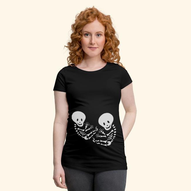 Bauchband Twins Baby Skelett (Mehrlinge)