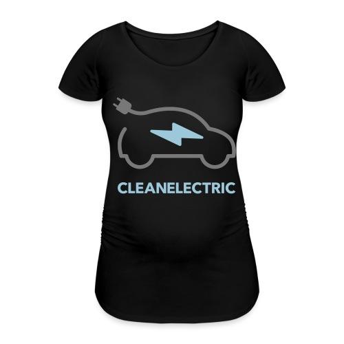 CLEANELECTRIC Logo - Frauen Schwangerschafts-T-Shirt