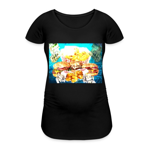 4-JvnkFoo-GFX-FriedSpecial - Vrouwen zwangerschap-T-shirt