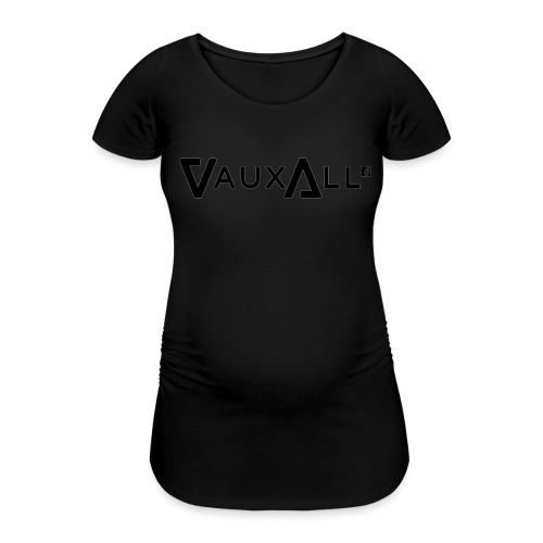 VauxAll Logo | Black | Original - Women's Pregnancy T-Shirt