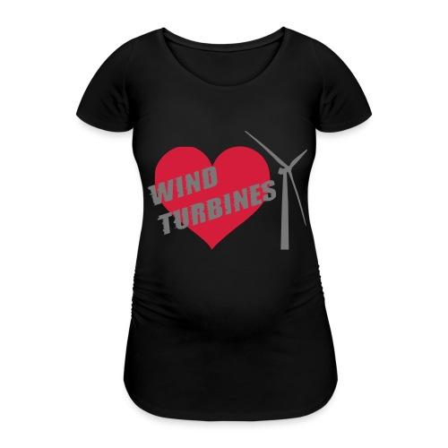 wind turbine grey - Women's Pregnancy T-Shirt