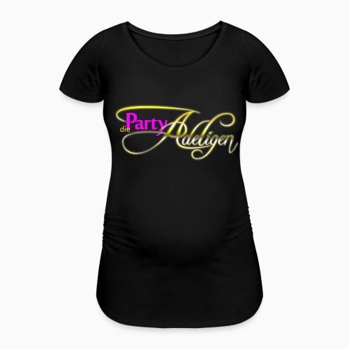 Die PartyAdeligen - Frauen Schwangerschafts-T-Shirt