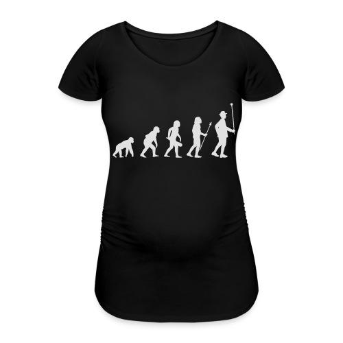 Evolution Stabführer weiß - Frauen Schwangerschafts-T-Shirt