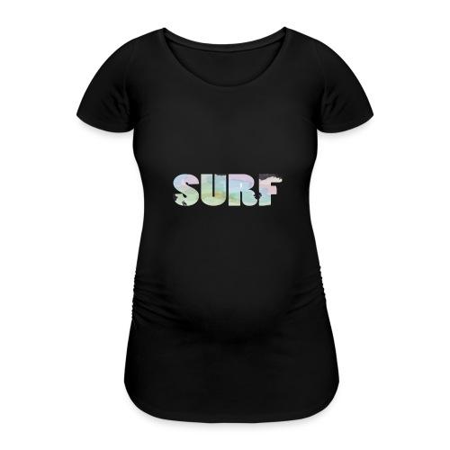 Surf summer beach T-shirt - Women's Pregnancy T-Shirt
