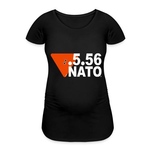 .5.56 NATO BLANC - T-shirt de grossesse Femme