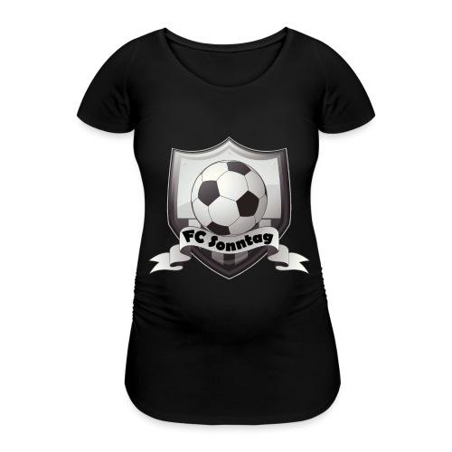 FC Sonntag Logo - Frauen Schwangerschafts-T-Shirt