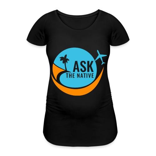 Ask the Native Original Logo - Vrouwen zwangerschap-T-shirt