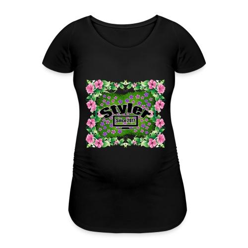 Styler Bloemen Design - Vrouwen zwangerschap-T-shirt