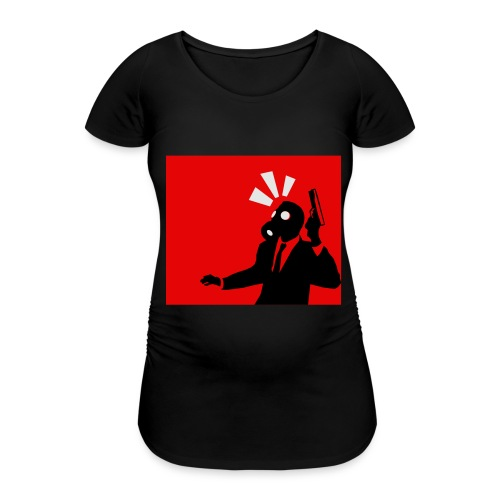 Gasmask - Women's Pregnancy T-Shirt
