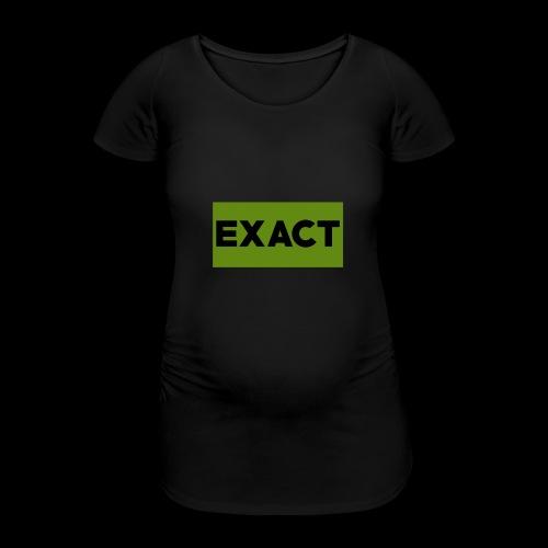 Exact Classic Green Logo - Women's Pregnancy T-Shirt