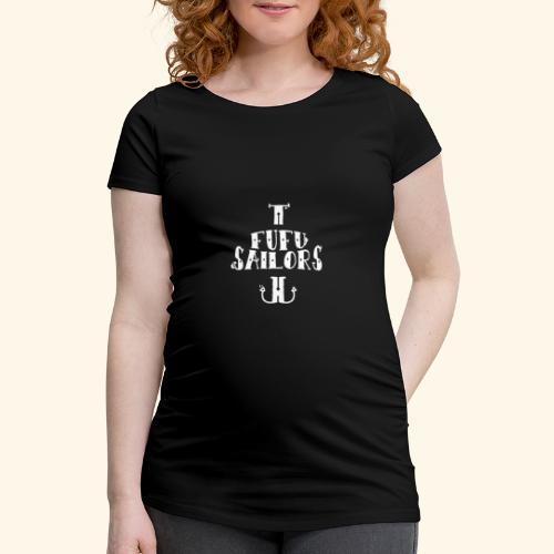 fufu anchor white - Women's Pregnancy T-Shirt