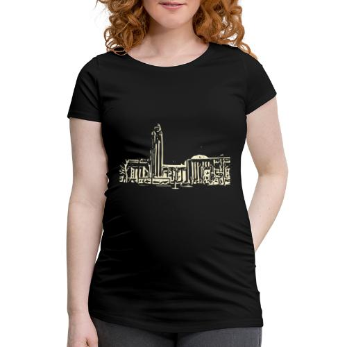 Helsinki railway station pattern trasparent beige - Women's Pregnancy T-Shirt
