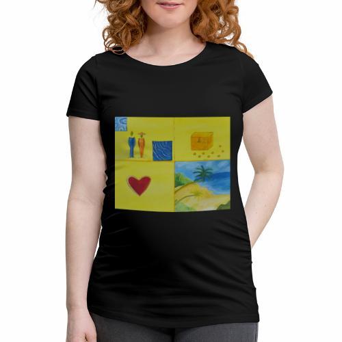 Viererwunsch - Frauen Schwangerschafts-T-Shirt