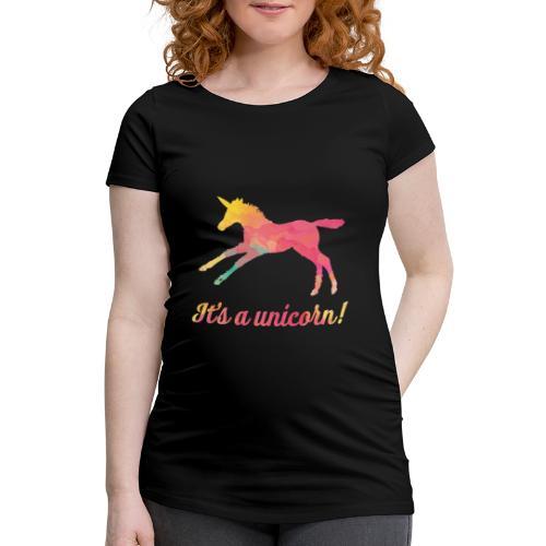It's a unicorn! - Naisten äitiys-t-paita