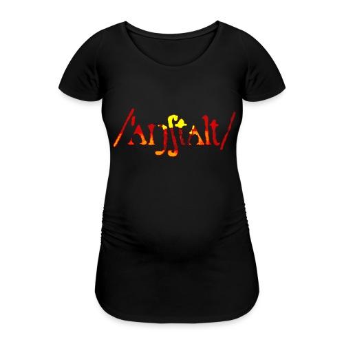 logo gerastert (flamme) - Frauen Schwangerschafts-T-Shirt