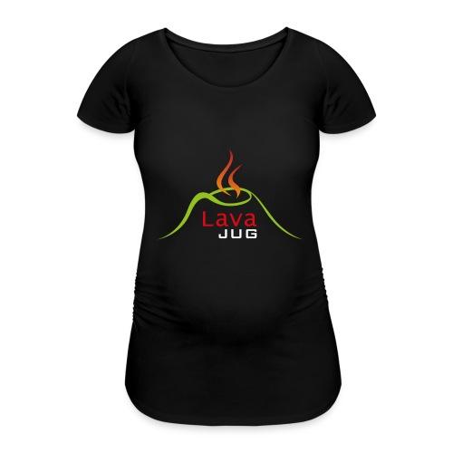 logo lavajug white - T-shirt de grossesse Femme