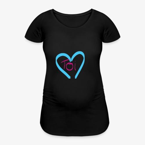 Mon cœur c'est Toi - T-shirt de grossesse Femme