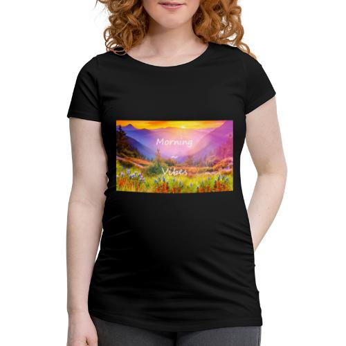Morning vibes - Gravid-T-shirt dam