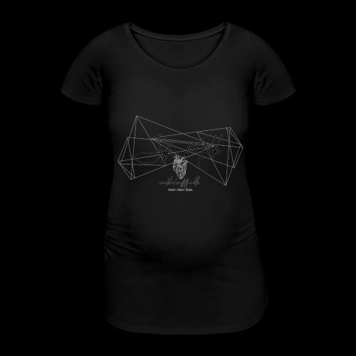 logo komplett invert - Frauen Schwangerschafts-T-Shirt