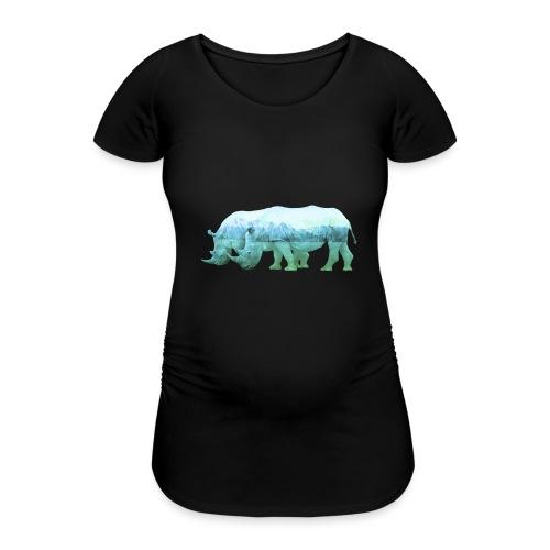 RHINOS, DIE NASHÖRNER IN DEN ALPEN - Frauen Schwangerschafts-T-Shirt