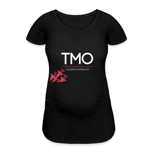 TMO official logo white - Women's Pregnancy T-Shirt