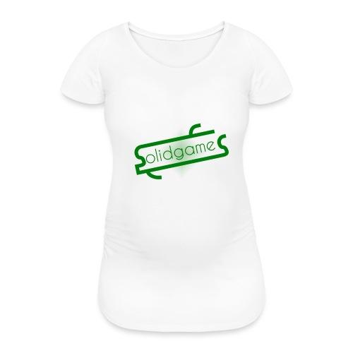 Solidgames Crewneck Grey - Women's Pregnancy T-Shirt