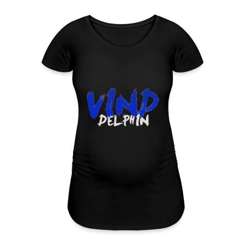 VindDelphin - Vrouwen zwangerschap-T-shirt
