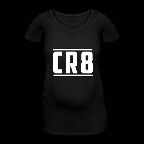 CR8 Hoodie - Black - Women's Pregnancy T-Shirt