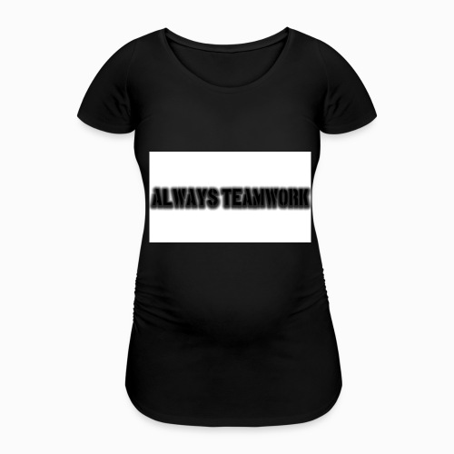 at team - Vrouwen zwangerschap-T-shirt