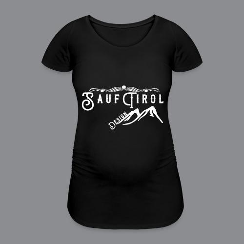 Sauftirol Weiss - Frauen Schwangerschafts-T-Shirt