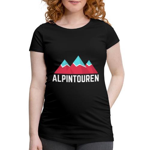 Alpintouren Logo - Frauen Schwangerschafts-T-Shirt