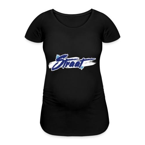 Logo DeStraatOp - Vrouwen zwangerschap-T-shirt
