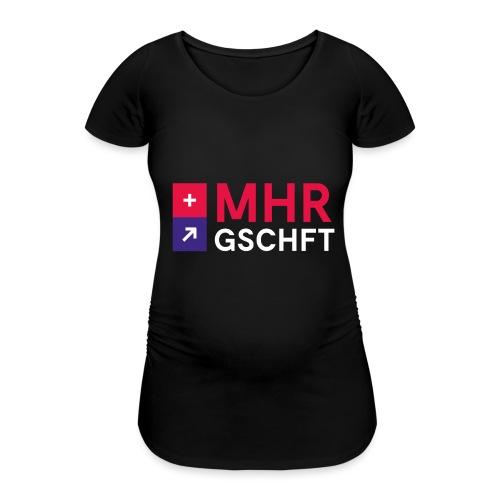 MHR GSCHFT mit Logo - Frauen Schwangerschafts-T-Shirt