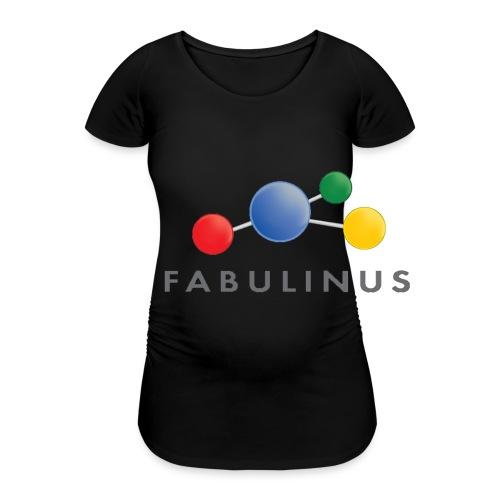 Fabulinus Grijs - Vrouwen zwangerschap-T-shirt
