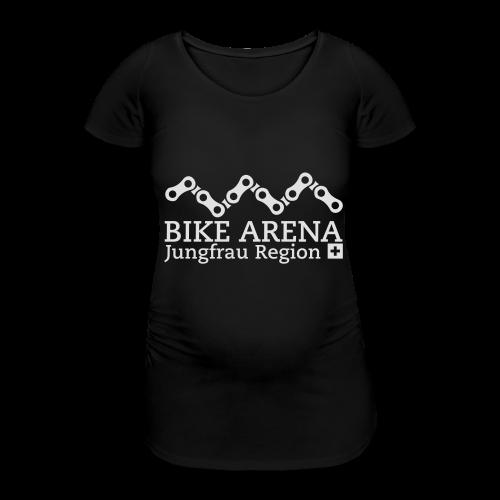 Bike Arena White - Frauen Schwangerschafts-T-Shirt