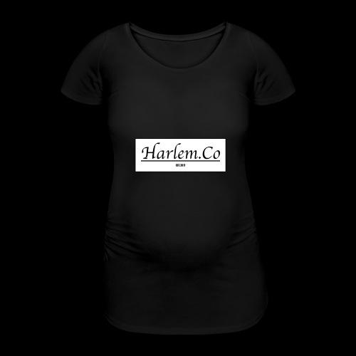Harlem Co logo White and Black - Women's Pregnancy T-Shirt