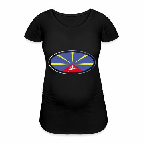 Paddle Reunion Flag - T-shirt de grossesse Femme
