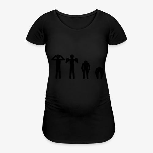 Hode, skulder, kne og tå - T-skjorte for gravide kvinner