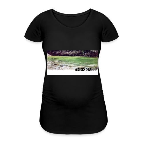 Think green - Frauen Schwangerschafts-T-Shirt