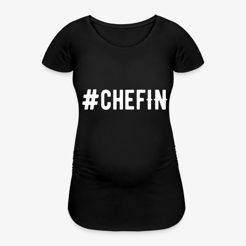 Hashtagchefin Hoodies schwarz - Frauen Schwangerschafts-T-Shirt