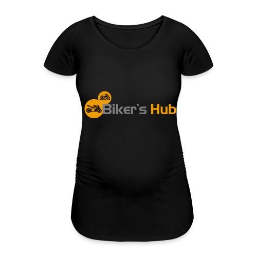 Biker's Hub Small Logo - Women's Pregnancy T-Shirt