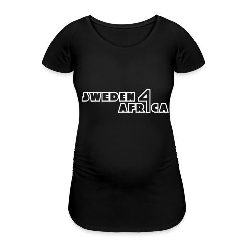 sweden 4 africa text logo v2 white - Gravid-T-shirt dam