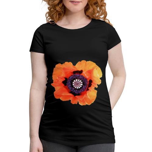 TIAN GREEN - Mohnblüte 2020 01 - Frauen Schwangerschafts-T-Shirt