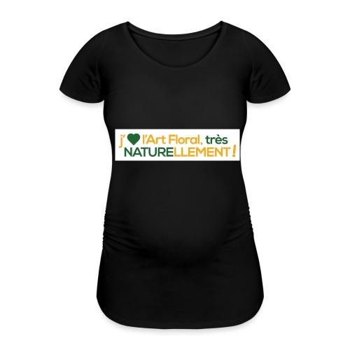 j'aime l'art floral jaune vert - T-shirt de grossesse Femme