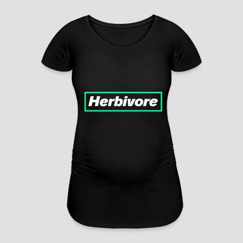 Herbivore Logo White - Maglietta gravidanza da donna