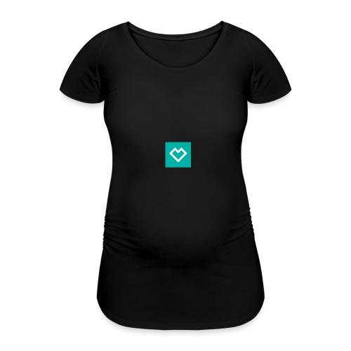 logo social media - Naisten äitiys-t-paita