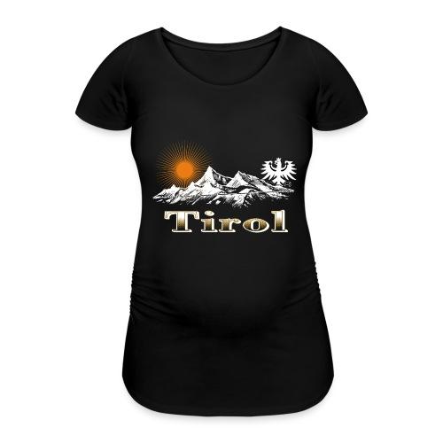 Tiroler Berge - Frauen Schwangerschafts-T-Shirt