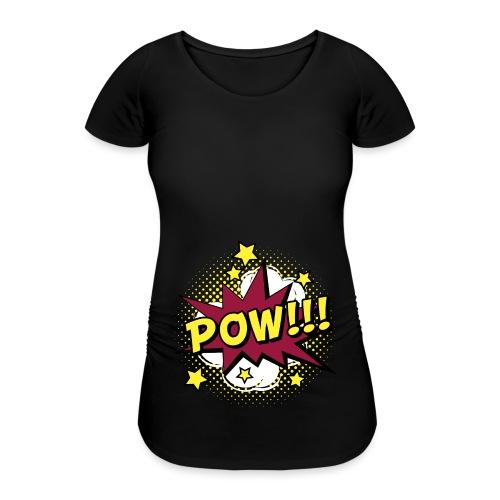 Comic Pow Sterne schwanger Geschenk Babybauch - Frauen Schwangerschafts-T-Shirt